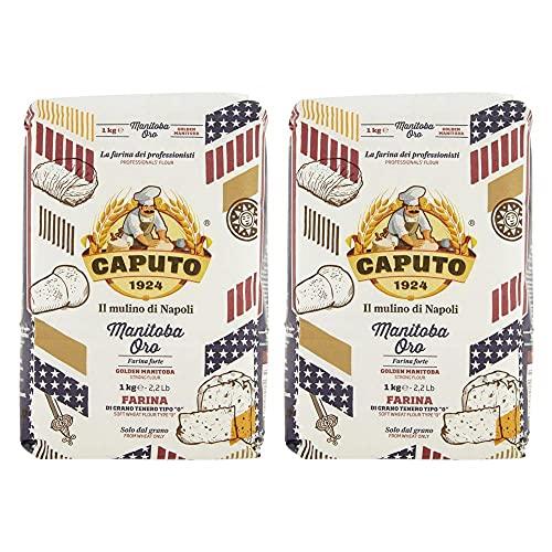 Caputo Manitoba Oro / Golden Manitoba Farine forte 1 kg (lot de 2)