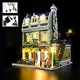ZHLY Kit di luci LED per Lego Creator Expert Ristorante Parigino 10243, Set di Luci Illuminazione per Lego 10243 (Modello Lego Non Incluso)