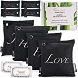 TENNESSEE HOME GOODS - Bamboo Charcoal Air Purifying Bags - 10-Pack Natural Organic Freshener, Deodorizer, Odor Eliminator - Reusable, Nature-Safe, Non-Toxic, Travel-Friendly  4x500g, 4x75g, 2xFridge