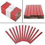 Lápiz de carpintero, 72 piezas de 175 mm, octogonal, rojo, duro, negro, mina, lápiz de carpintero, herramienta de marcado para carpintería, cómodo de usar, no fácil de romper