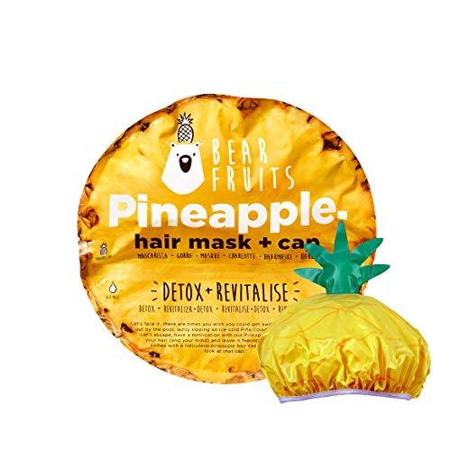 Bear Fruits, Piña, Detox & Revitaliza, Mascarilla Capilar + Gorro De Ducha, 20 ml