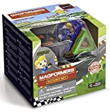 Magformers Rally Kart RC 13 Pieces Set, Rainbow, Wheels, Educational Magnetic Geometric Shapes Tiles Building STEM Toy Set Ages 3+