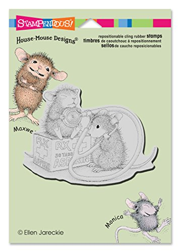 Stampendous House Cling Rubber Stamp, Nurse Mouse