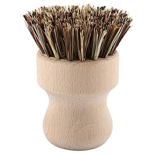 Juego de cepillos redondos para lavaplatos Cepillo para ollas de madera Cepillo...