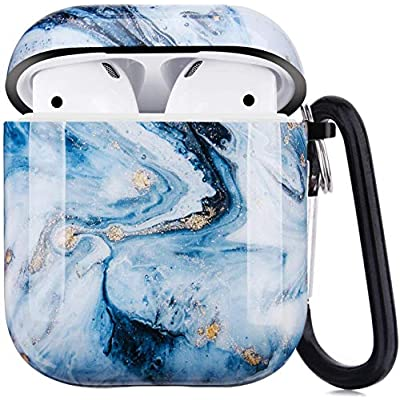 for Airpods Case Cover Silicone, Compatible with Airpod 2 & 1, Full Protective Cute Funny Fashion Skin Designed with Keychain, Airpod Wireless Charging Cases for Women Men Boys and Girls
