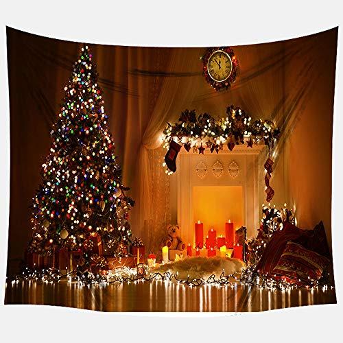 Apark - Tapiz de decoración navideña, diseño de pared de tela extra grande para decoración de Navidad, bandera de Navidad con fondo de fondo para Navidad, 150 x 180 cm