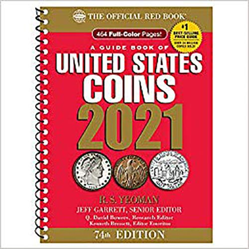 2021 - Red Book 74th Edition - Spiral Edition - US Coin Values! - - -