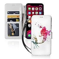 水彩アリエルリトルマーメイド fish iPhone11 ケース iPhone 11 Pro ケース iPhone 11 Pro max ケース 手帳型 財布型 カード収納 スタンド機能 マグネット式 スマホケース 高級PU レザー 耐衝撃 全面保護カバー