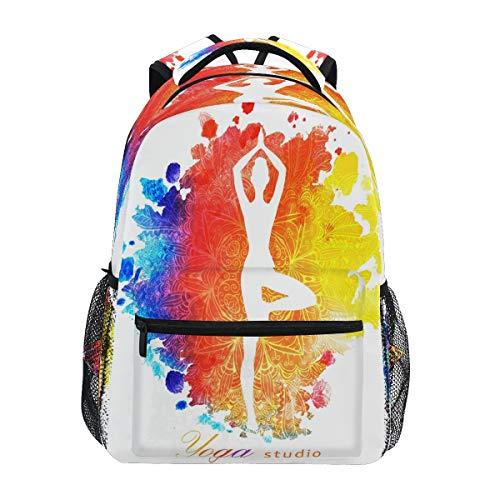 XIXIKO - Mochila para yoga, acuarela, para escuela, viajes, al aire libre, para mujeres, hombres, niñas, deporte, gimnasio, senderismo, camping, mochila