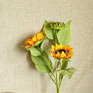 Silk Flower Arrangements Simulation Artificial Sunflower,Decorative Colourful Cosmos Decoration Props Simulation Flower,DIY Flower Bouquet for Summer,Gift for Bee Day,Festival Party