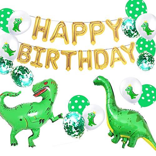 JeVenis Set mit 18 Dinosaurier-Geburtstags-Luftballons Dinosaurier-Geburtstagsfeier-Dekoration Kleine Dino-Party-Thema-Dekoration Dinosaurier-Geburtstagsfeier-Luftballons