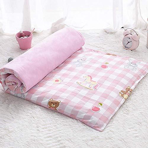 JY&WIN Colchón de futón para bebé, con funda extraíble, para cuna ultrasuave, transpirable, reversible, 60 x 135 cm