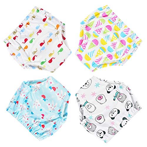 Tyhbelle Baby Töpfchen Trainingshose 4 Stück Wasserdicht Lernwindel Windelhose Trainer Windelhosen für Baby 1 bis 2.5 Jahre 90,100 (Mädchen, 110/4T)