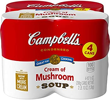 4-Count Campbell's Condensed Cream of Mushroom Soup, 10.5 oz. Can