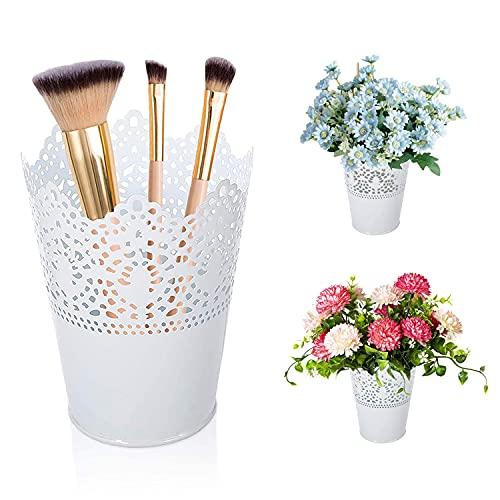 Pot a Pinceau de Maquillage,2 Pièces Organisateur de Maquillage Pot Maquillage,pour les Cosmétiques,les Crayons,le Stockage de la Papeterie et la Décoration de Fleurs Séchées