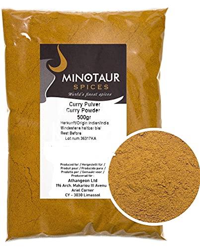 Minotaur Spices | Curry moulu, Curry en poudre doux, 2 x 500 g (1 Kg)