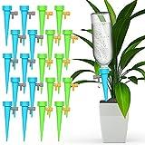 O-Kinee Riego por Goteo Automático Kit, 20PCS Sistema de Riego para Jardín, Ajustable Piezas Irrigación con Interruptor de Válvula,Ggoteo Spike Sistema para Bonsáis y Flores