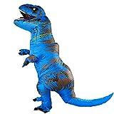 Rafalacy Déguisement de dinosaure gonflable pour adulte - Bleu - taille unique