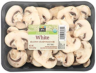 Mushroom White Sliced Organic, 8 Ounce