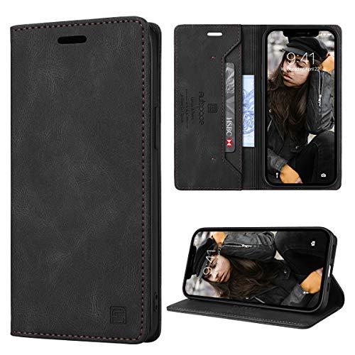 GANKER Cover per iPhone 12/ iPhone 12 Pro Libro [RFID Blocking] Custodia iPhone 12 Pro/ iPhone 12 Portafoglio Pelle Premium Magnetica Flip Cover iPhone 12/12 Pro (6.1'') - Nero