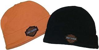 Harley-Davidson Baby Boys' Hat Set, Infant 2 Pack Gift Set, Black/Orange 3050044
