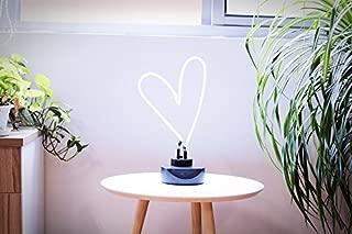 Real Glass Neon Sculpture Heart Neon Light Neon Sign 39cm x 21.5cm x 13.7cm Neon Lamp