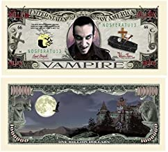 American Art Classics The Vampire Million Dollar Bill in Currency Protector - Best Gift for Fans of Vampires Underworld True Blood Dracula