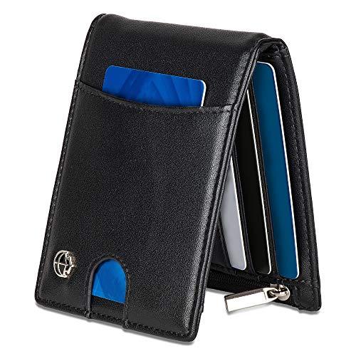 Noah Noir Geldbeutel mit Geldklammer und RFID Schutz (TÜV geprüft) Geldbörse Männer mit 11 Kartenfächer (Jaguar)