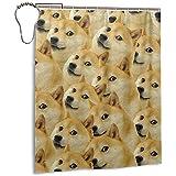 abby-shop Mr Doge Meme Home Decorations Duschvorhang Wasserdichtes Polyester für Badezimmer Duschvorhang Set mit Haken