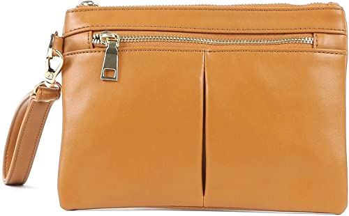Women S Shoulder Bag With Pouch TAN