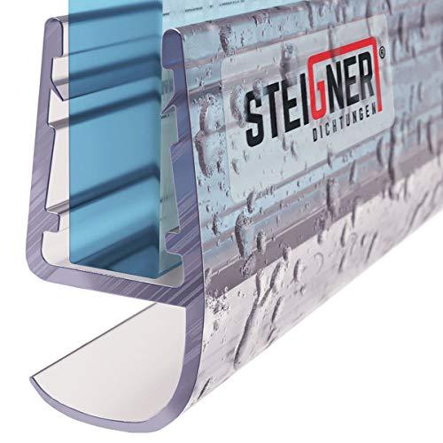 STEIGNER Duschdichtung, 190cm, Glasstärke 5/6/ 7/8 mm, Gerade PVC Ersatzdichtung für Dusche, UK15
