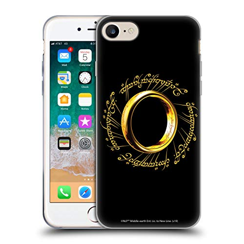 Head Case Designs Ufficiale The Lord of The Rings: The Fellowship of The Ring Un Anello Grafiche Cover in Morbido Gel Compatibile con Apple iPhone 7 / iPhone 8 / iPhone SE 2020