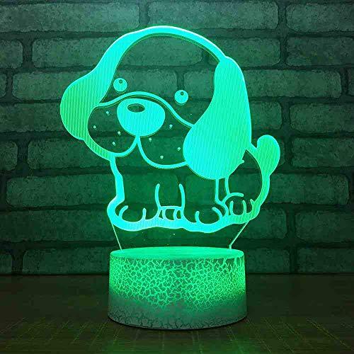 RJGOPL modern 7 kleuren wisselende LED-verlichting 3D Carino puppatroon tafellamp Home Decor nachtlampje voor de schuur Gift