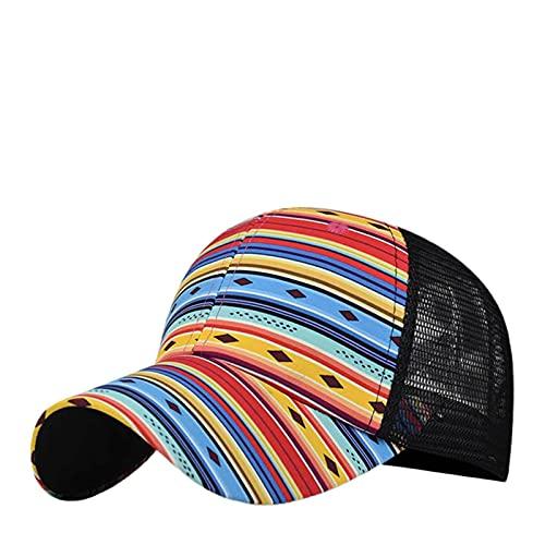 Gorra de béisbol, Gorra de béisbol de unisexc Cruz, Tapa de Cola de Caballo, Mujer lavó la Gorra de béisbol de algodón, Sombrero de Alta Cola de Caballo, Sombrero de Sol