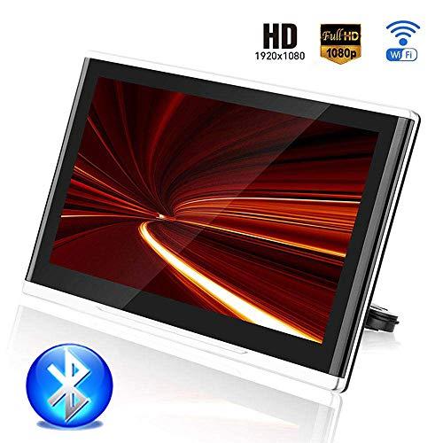 Roboraty Auto Hoofdsteun Speler, WIFI Bluetooth Aansluiting 12.5-Inch HD Display, Ondersteuning 4K 1080P / HDIM/USB/SD/TF/FM, Ondersteuning 1TB Externe Harde Schijf Zwart