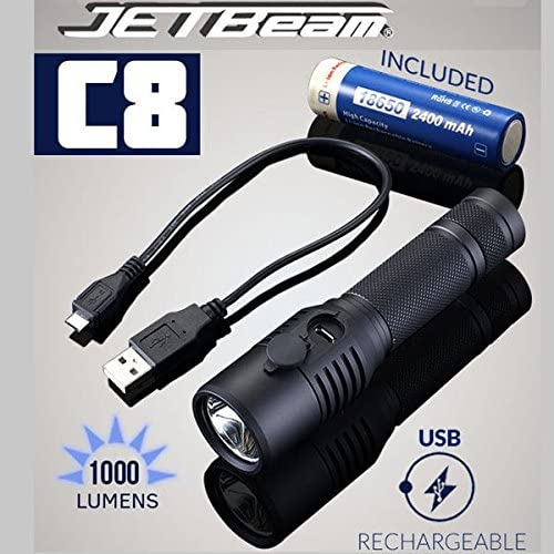 Inexpensive JETBeam Directly managed store C8 CREE XM-L2 1000LM Flashligh Rechargeable Tactical LED
