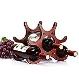 Doctor Hetzner Portabottiglie Vino di Legno DIY Portabottiglie Accatastabile per Borracce e Bottiglie per 6 Bottiglie per Ripiani da Cucina Presentazione e Wine Bar 28 * 19 * 21,6 cm