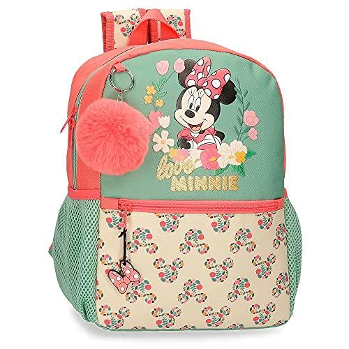 Disney Minnie Golden Days Mochila Escolar Adaptable a Carro Multicolor 25x32x12 cms Poliéster 9,6L