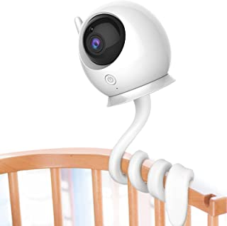 Universal Baby Monitor Mount Shelf Flexible Camera Stand No Drilling for Nursery Baby Monitor Crib Holder Compatible with ...