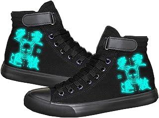 Unisexe Anime Onmyoji,Luminous Chaussures en Toile À Lacets Baskets De Mode Sneakers Velcro Printemps Et Automne