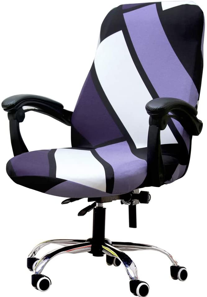 Deisy Dee Computer Office Chair Covers for Stretch Rotating Mid Back Chair Slipcovers Cover ONLY Chair Covers C162 (B)