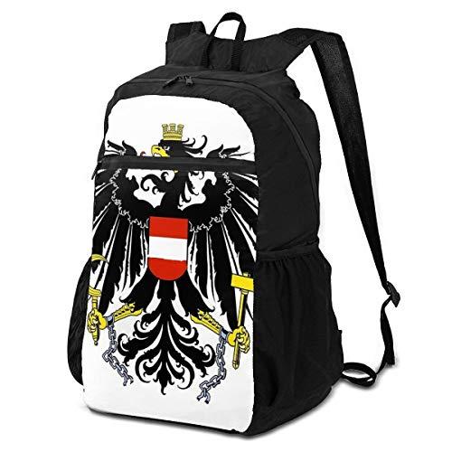 Cocoal-ltd Austria Escudo de las armas, mochila de senderismo plegable, resistente al agua, portátil, ligera, plegable, para viajes, camping, deportes al aire libre, bolsa de almacenamiento