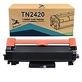 FITU WORK TN2420 TN2410 (con Chip) Cartucho Toner Compatible para Brother HL-L2310D HL-L2350DW HL-L2370DN HL-L2375DW DCP-L2510D DCP-L2530DW DCP-L2550DN MFC-L2710DW MFC-L2730DW MFC-L2750DW (1 x Negro)