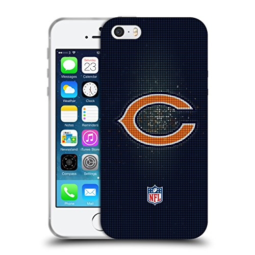 Head Case Designs Licenza Ufficiale NFL LED Chicago Bears Artwork Cover in Morbido Gel Compatibile con Apple iPhone 5 / iPhone 5s / iPhone SE 2016