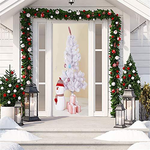 MACHINE BOY Interior Door Bedroom Living Room Door Wall Office Art Door Sticker Pink Feather Pine Size 90 * 200cm