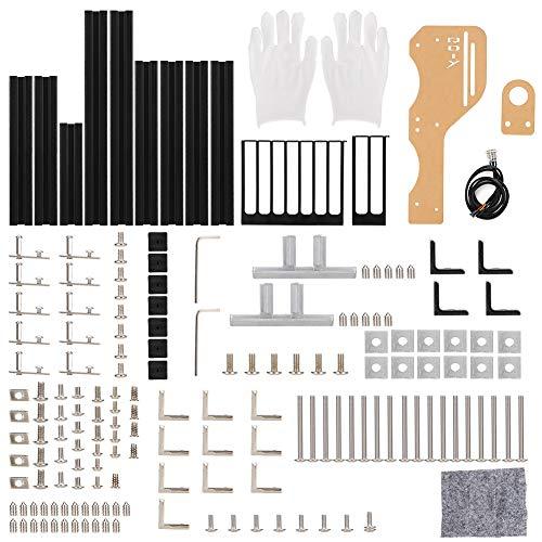 Carcasa del chasis, diseño de chasis abierto con marco de aluminio abierto para computadora(black, white)
