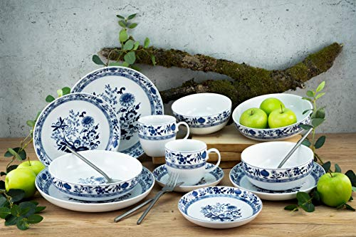 Creatable, 15403, serie Allround Zebelmmuster - Vajilla (10 piezas, porcelana)
