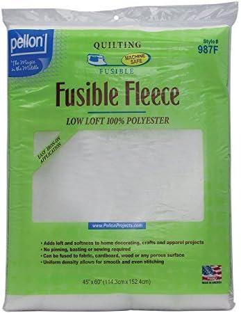 Single Sided Light Fusible Fleece 45in x 72in