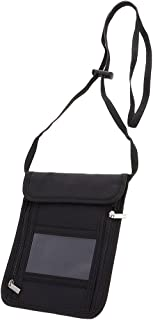 Prettyia Flexible Strap Neck Pouch Credit Card Phone Passport Bag Travel Wallet
