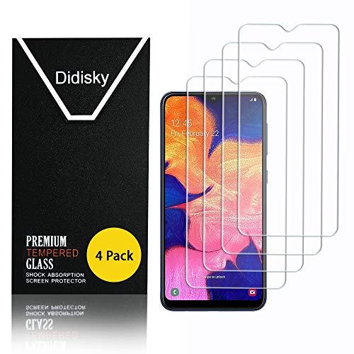 Didisky Pellicola Protettiva in Vetro Temperato per Samsung Galaxy A10,[4 Pezzi] Protezione Schermo [Tocco Morbido ] Facile da Pulire, Facile da installare, Trasparente